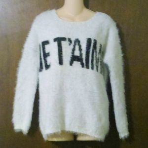 Forever 21 Soft Fuzzy Je T'aime Sweater